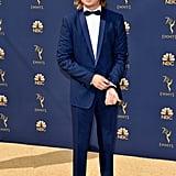 Joe Keery and Gaten Matarrazzo at the Emmys 2018