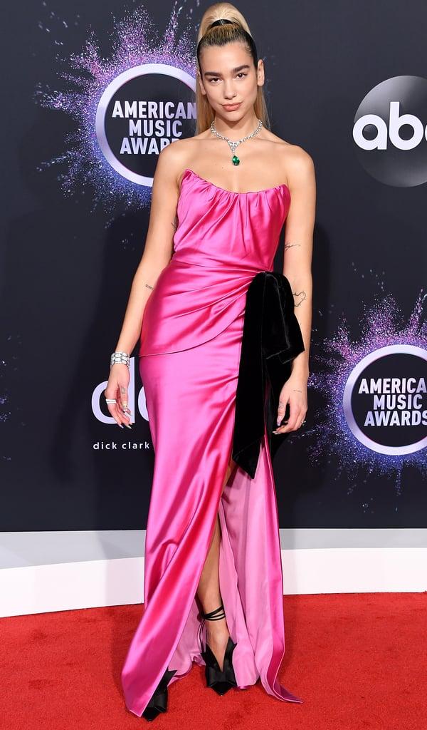 Dua Lipa's Pink Dress at the American Music Awards 2019