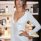 Alessandra Ambrosio in a white dress.