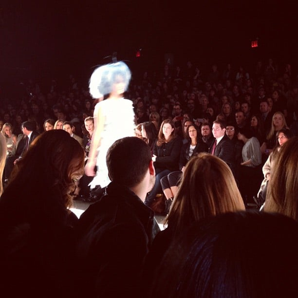 Check out this crazy blue hair piece that came down the Project Runway catwalk.