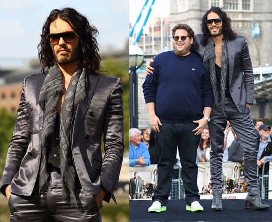 Pictures of Russell Brand and Jonah Hill Get Him to the Greek Photocall