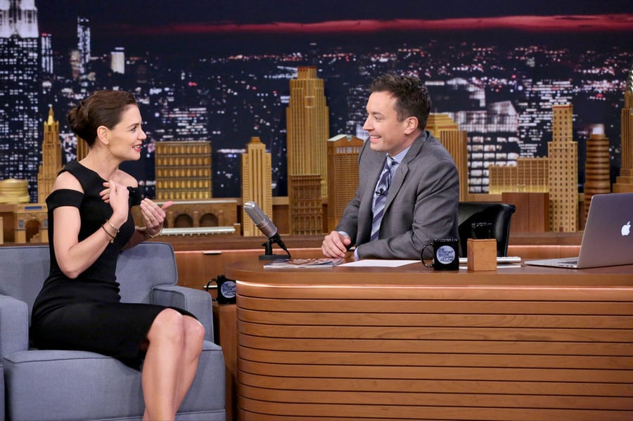 Katie Holmes Wears the Most Versatile LBD You've Ever Seen on Jimmy Fallon