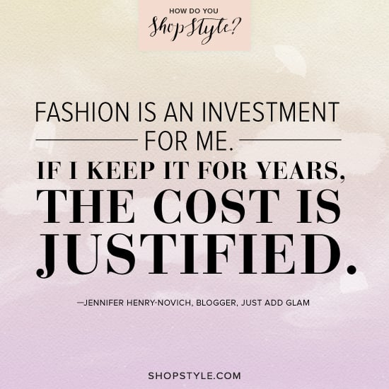 Jennifer Henry-Novich, blogger, Just Add Glam  Play the ShopStyle game for a chance to win one of three designer bags.