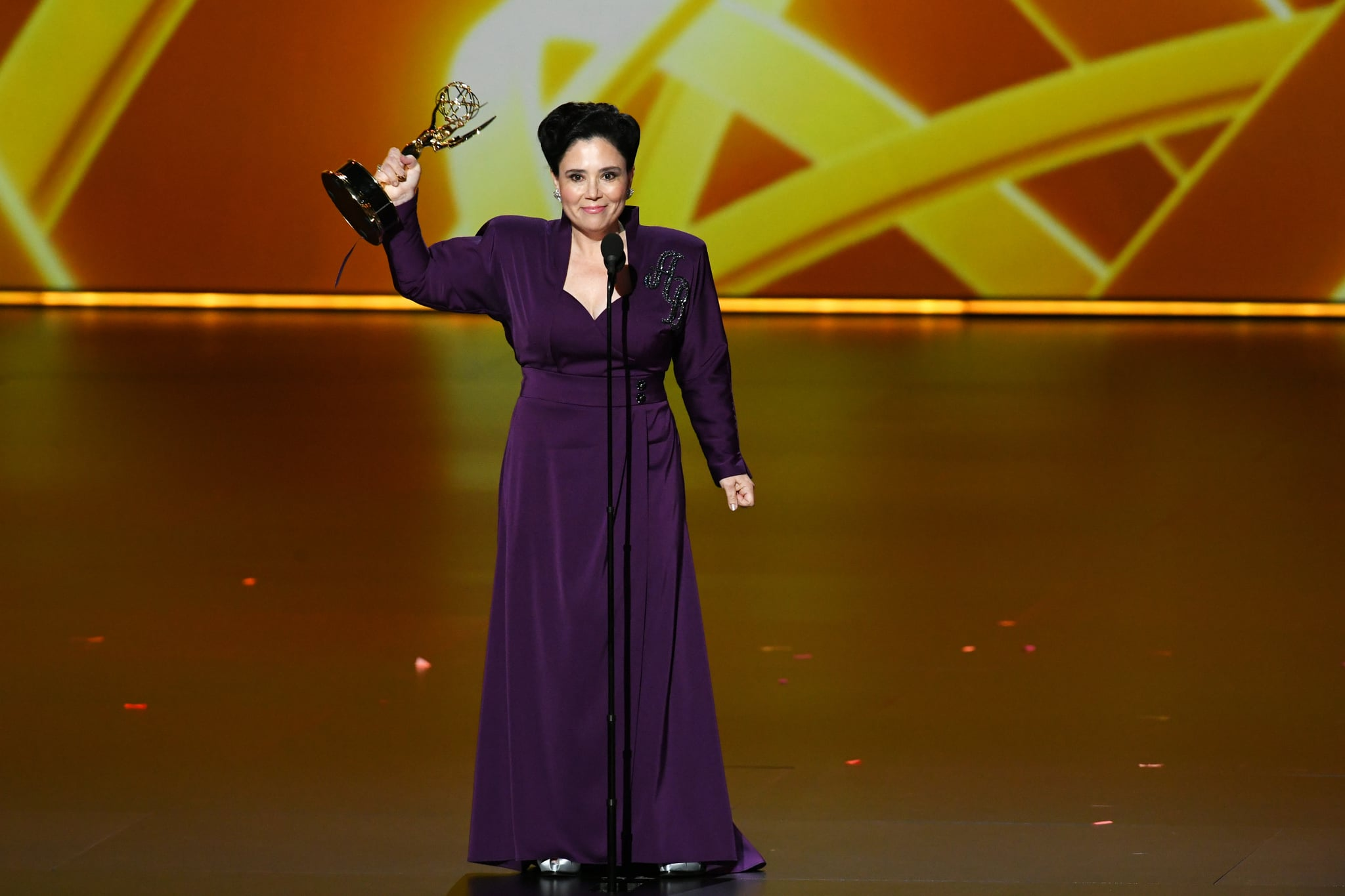 LOS ANGELES, CALIFORNIA - SEPTEMBER 22: Alex Borstein accepts the Outstanding Supporting Actress in a Comedy Series award for 'The Marvelous Mrs. Maisel' onstage during the 71st Emmy Awards at Microsoft Theatre on September 22, 2019 in Los Angeles, California. (Photo by Kevin Winter/Getty Images)