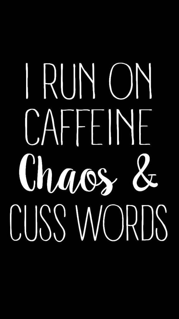 Caffeine, Chaos, Cuss Words Baseball Tee