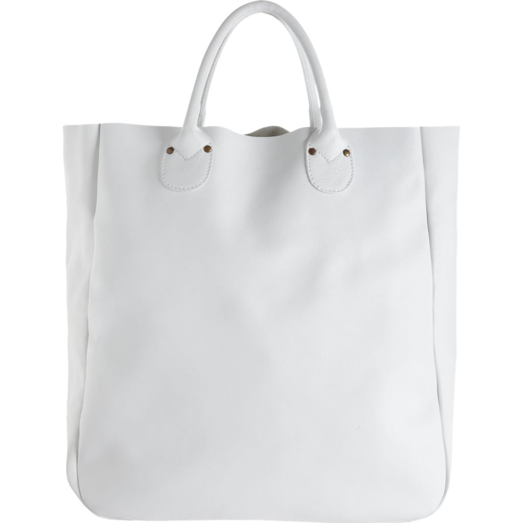 I've been on the hunt for a white bag to add a crisp edge to my Spring style, and I think I found the perfect one with this Barneys New York East/West tote ($725). The leather is so buttery and its simple design will go with just about everything I own.  — Melody Nazarian