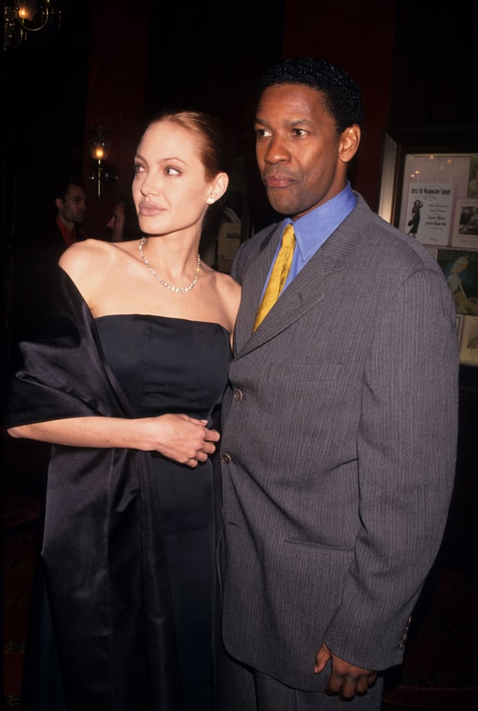 Denzel Washington and Angelina Jolie at the Premiere of The Bone Collector in 1999
