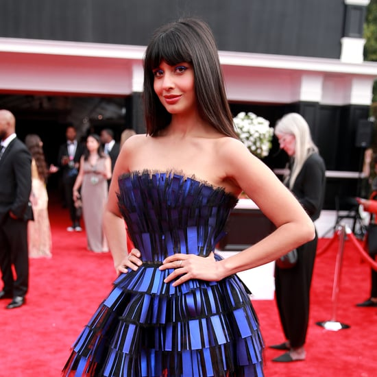 Jameela Jamil Wore £22 ASOS Boots Under Her Grammys Dress