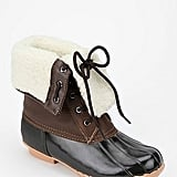 Most rain boots lack a layer of warmth, but not this one. These Sporto Delinda Rubber Boot ($80) features a shearling lining to keep your feet warm all season long.