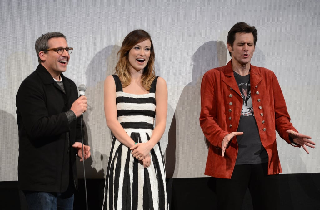 Olivia Wilde Celebrates Burt Wonderstone With Steve Carell and Jim Carrey at SXSW