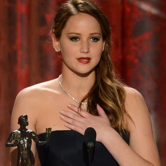 Jennifer Lawrence Wins a SAG Award 2013
