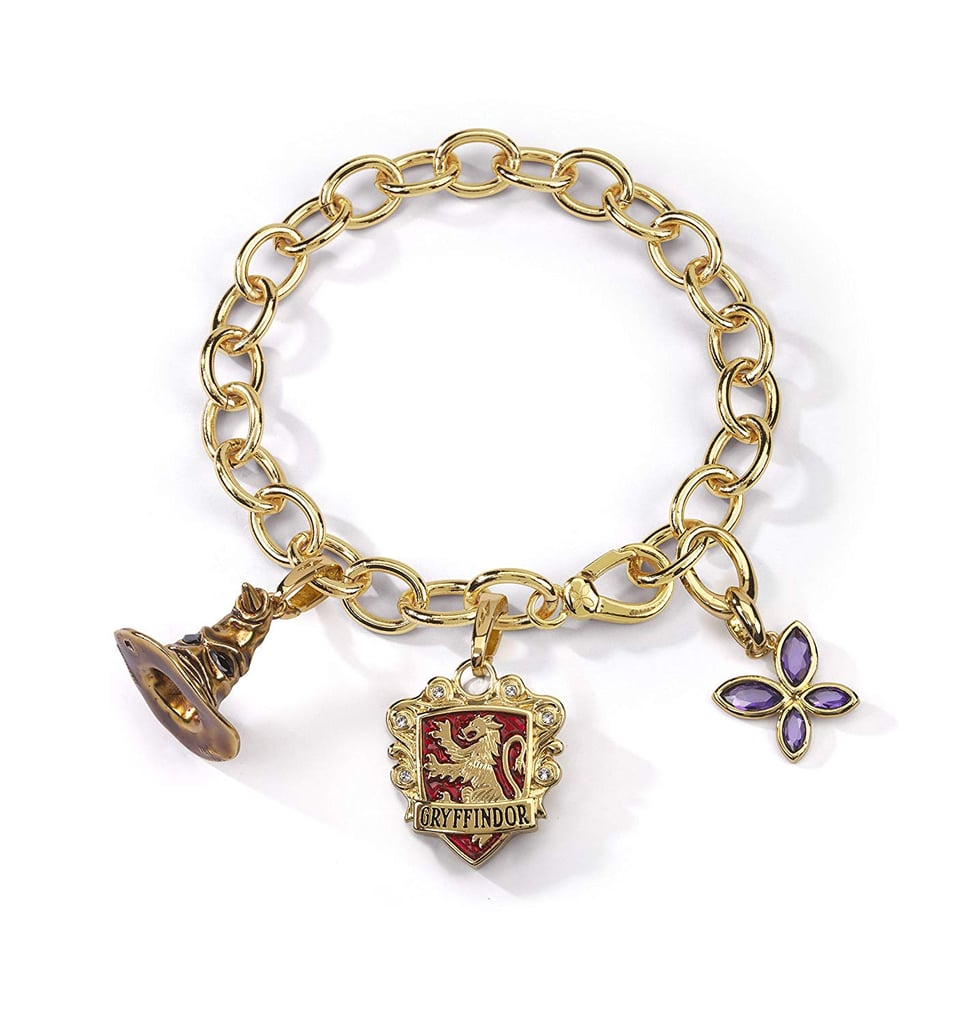 The Noble Collection Lumos Harry Potter Gryffindor Charm Bracelet