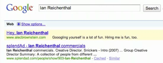 Using Google AdWords as a Job Search Tool
