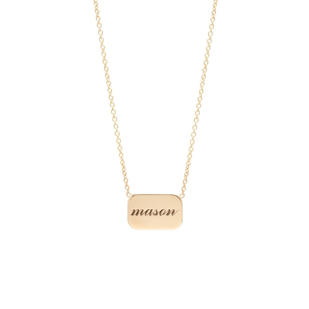 Zoe Chicco 14k Personalized Rounded Rectangle Necklace