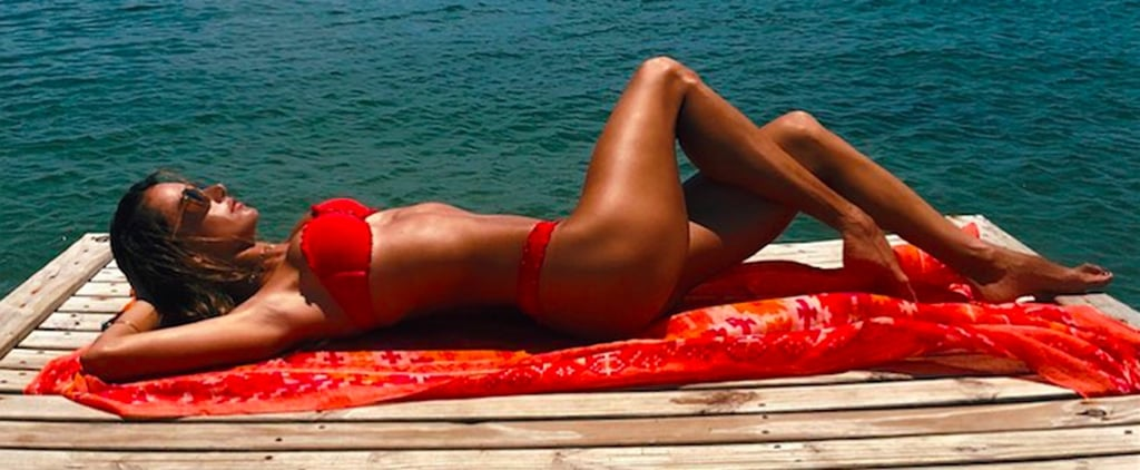 Alessandra Ambrosio's Strapless Red Bikini Is Not For the Faint of Heart
