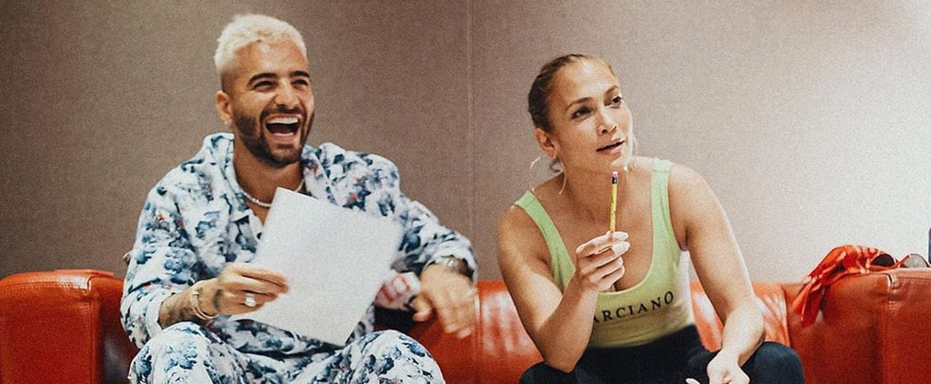Behind-the-Scenes Snaps From Maluma and J Lo's Marry Me Film