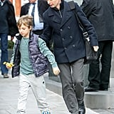 Matthew Bellamy walked with Kate Hudson's son Ryder in London.