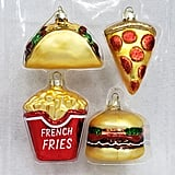 Mini Junk Food Glass Christmas Ornament Set