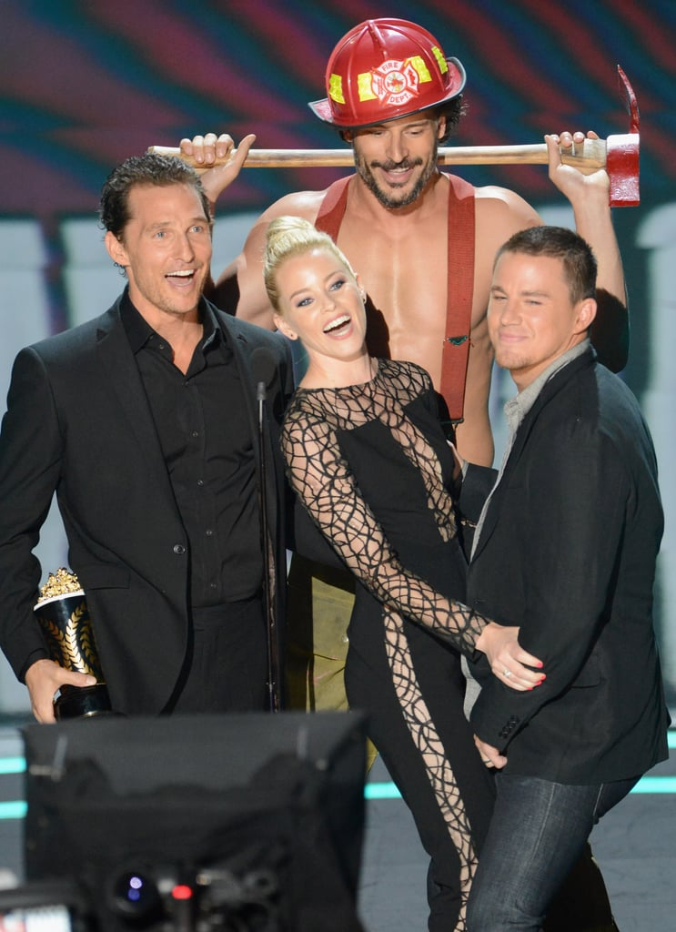 Matthew McConaughey, Elizabeth Banks, Joe Manganiello, and Channing Tatum