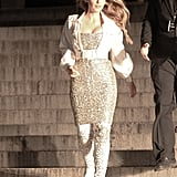 Blake Lively's Sequined Dress and Boots December 2018