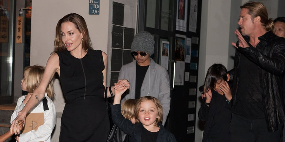 Angelina Jolie and Brad Pitt With Kids in Berlin Pictures