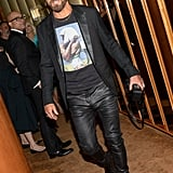 Justin Theroux at the Met Gala Afterparty