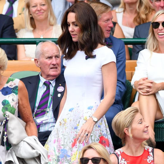 Duchess Kate Catherine Walker Dress at Wimbledon 2017