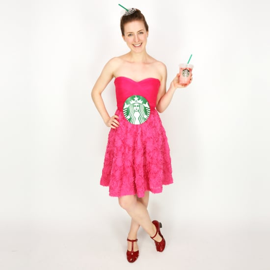 Easy Starbucks Pink Drink DIY Costume