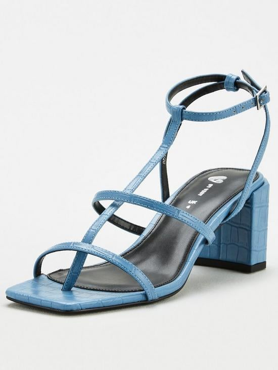 V by Very Bellamy Square Toe Strappy Sandals