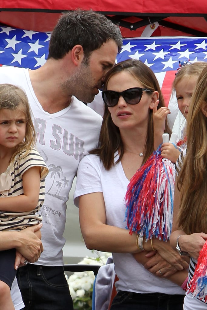 Ben Affleck and Jennifer Garner took their kids out to celebrate Independence Day on July 4.