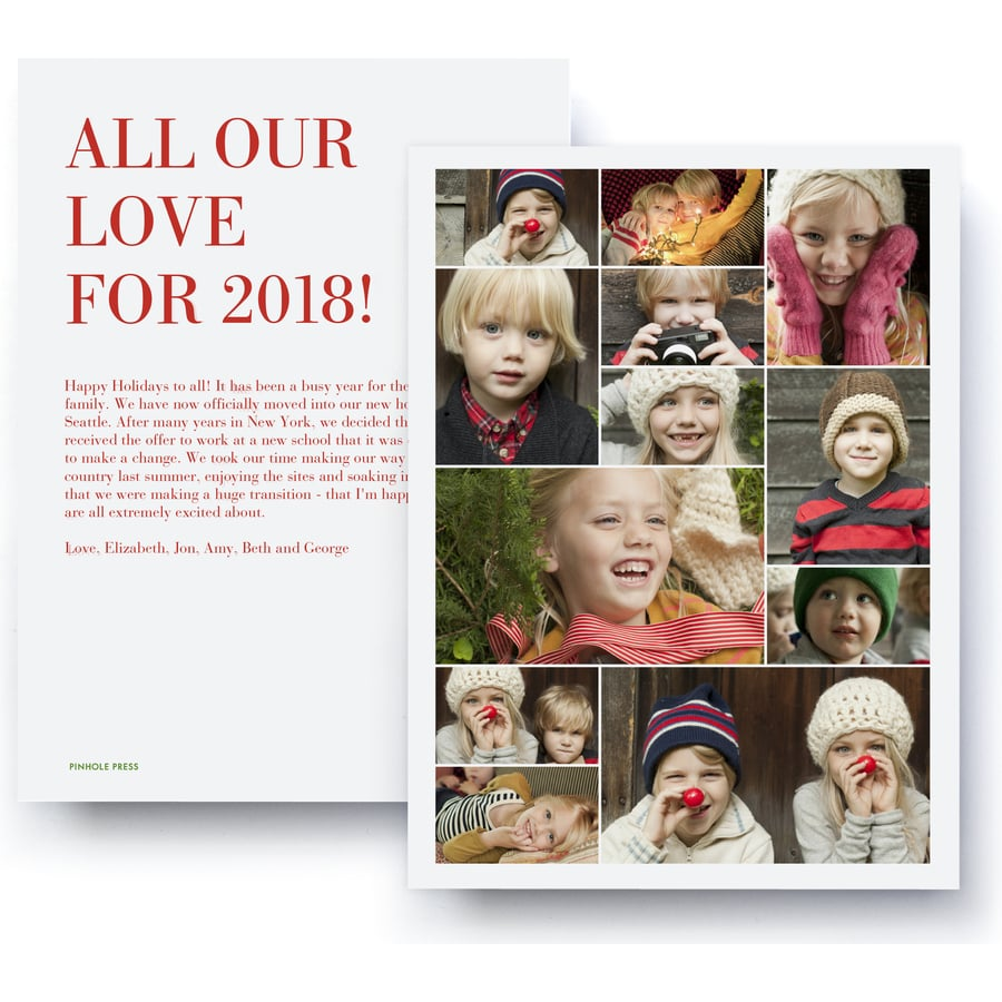 all our love collage holiday photo card from pinhole press 1 2