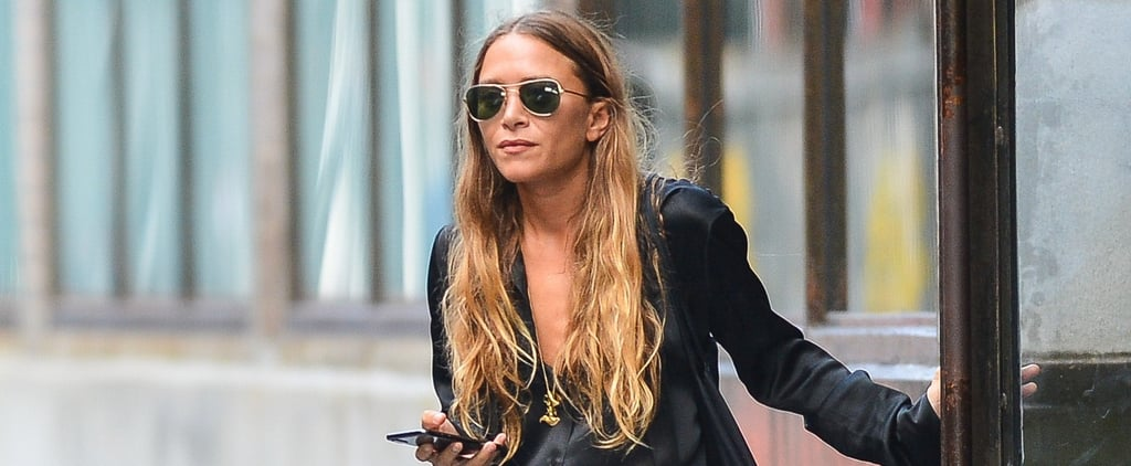 Mary-Kate Olsen Black Suit 2018