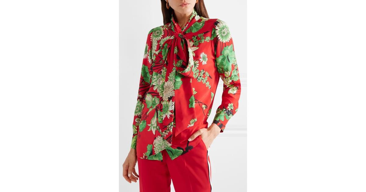 9bb125377a1ca6 JLo's Exact Gucci Floral-Print Pussy Bow Silk-Satin Blouse | Jennifer Lopez Gucci  Floral Top With Alex Rodriguez 2018 | POPSUGAR Fashion Photo 23