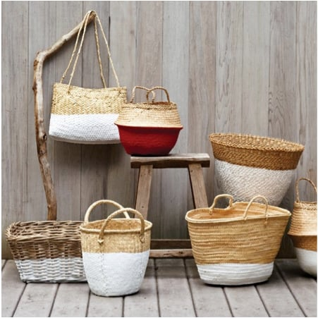 Martha Stewart shows us how to make these beautiful dip-dyed baskets. Source: Martha Stewart