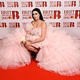 Dua Lipa in Giambattista Valli at the Brit Awards 2018