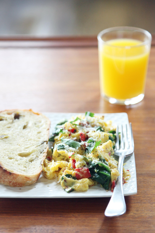 Egg Spinach Bell Pepper Bowls