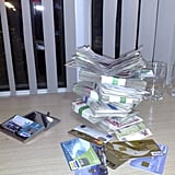 This was Garfors' stash of cash and credit cards he used during his travels through Uzbekistan.