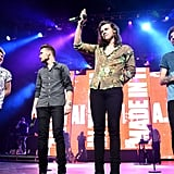 One Direction Performing at Triple Ho Show in San Jose, CA, in 2015