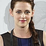 Kristen Stewart smiled at the Snow White and the Huntsman photocall in Madrid.