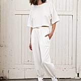 Frankie Shop White Cropped Top and Jogger Set