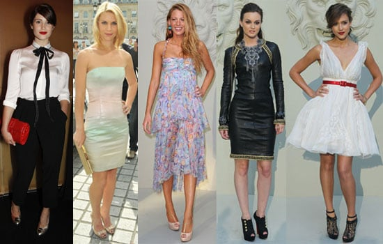 Pictures of Gemma Arterton & Clarie Danes at Armani Show Plus Jessica Alba, Blake Lively, Leighton Meester at Paris Chanel Show