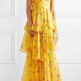 Caroline Constas Paros Silk Chiffon Gown