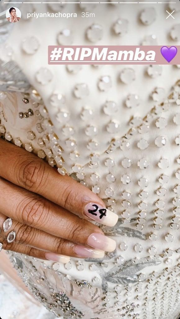 Priyanka Chopra's Nails Honouring Kobe Bryant at the 2020 Grammys