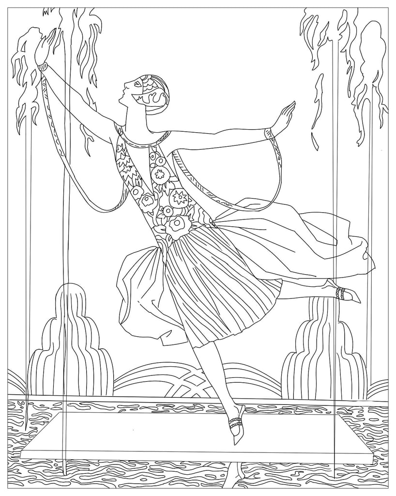 Get the coloring page: Dancer