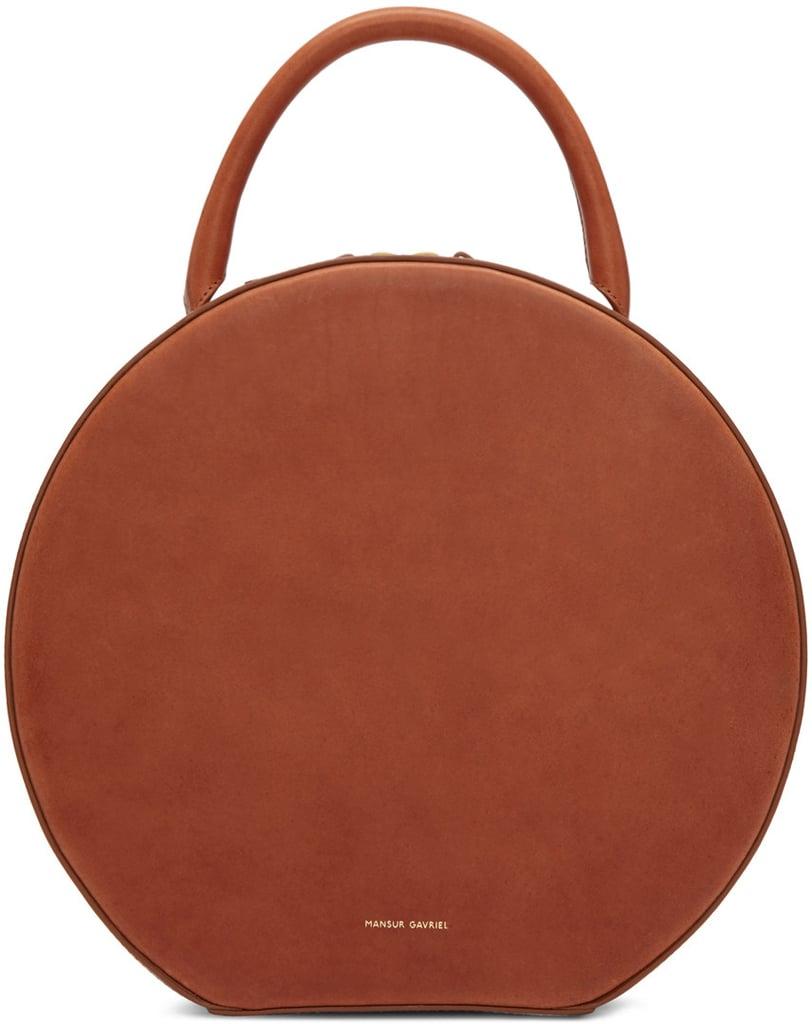 Mansur Gavriel Brown Leather Circle Bag ($795)