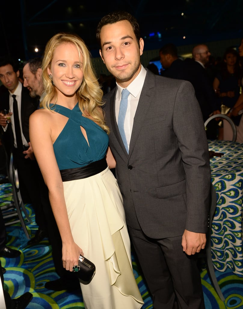 Anna Camp and Skylar Astin stuck together at HBO's afterparty.