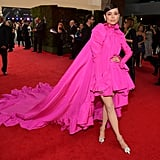 Sofia Carson Pink Giambattista Valli Dress at Latin Grammys