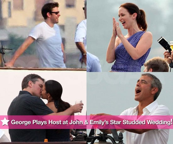 John Krasinski Emily Blunt Wedding.Pictures Of Emily Blunt John Krasinski And George Clooney