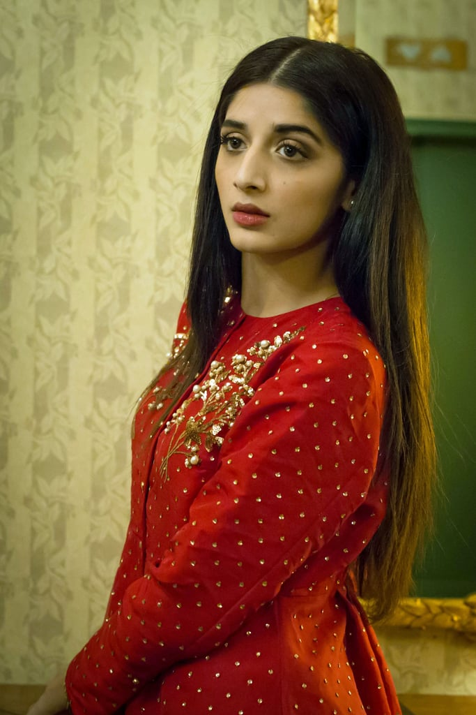 "If you're on the pulse of the Pakistani film industry, you're definitely familiar with Mawra Hocane. The Karachi native is known for her intensive work in serials such as Yahan Pyar Nahi Hai and the upcoming Sammi, as well as films like Sanam Teri Kasam.   Thanks to makeup artist Karuna Chani, POPSUGAR got the opportunity to connect with Mawra as she visited New York for a very special reason: Pakistan's first-ever film festival, which was hosted by the United Nations. ""It is incredible how our cinema is making its presence felt on an international level through prestigious platforms given to us by the UN,"" she said. ""This is only the beginning and there is much more to come.""  That statement applies to Mawra's career, too. She uses her celebrity to spotlight social justice issues — and not just in her spare time. In fact, her new serial, which is set to debut in 2017, revolves around a heartbreaking theme: child marriage. ""I believe in using my voice,"" she told POPSUGAR, ""so I am very excited about Sammi, which speaks up against child marriages. Through TV, we are trying to raise awareness.""  With talent, passion, and looks like hers, she is poised to become an international star. She has 1.4 million followers on Instagram, many of who comment ""beauty queen"" or ""gorgeous"" and declare her an ""iconic beauty."" They're not wrong! Just one look at her inspires beauty envy, so we of course asked her all about her hair, skin, and makeup secrets. Mawra is actually a spokesperson for Sunsilk in Pakistan and swears by its shampoos and conditioners but also credits her thick, lustrous hair to regular oil treatments. She added, ""I also love unwinding by getting scalp massages from my mother!"" One of the two beauty products she's obsessed with can actually be found stateside: the classic Maybelline Great Lash mascara ($6), which Mawra says she can't live without. The other, a ""no makeup"" makeup palette, comes courtesy of Pakistani brand Nabila. Because they each contain lip and cheek colors, powder, and concealers, ""the kits are great for on-the-go touch-ups."" Keep reading! We worked with Mawra and Karuna to get a behind-the-scenes look at Mawra's style for the inaugural dinner of the Pakistan Film Festival. You'll be positively mesmerized by the beautiful photos.      Related:                                                                                                           1 Pakistani-American Reveals Her Family's Best DIY Beauty Secrets"