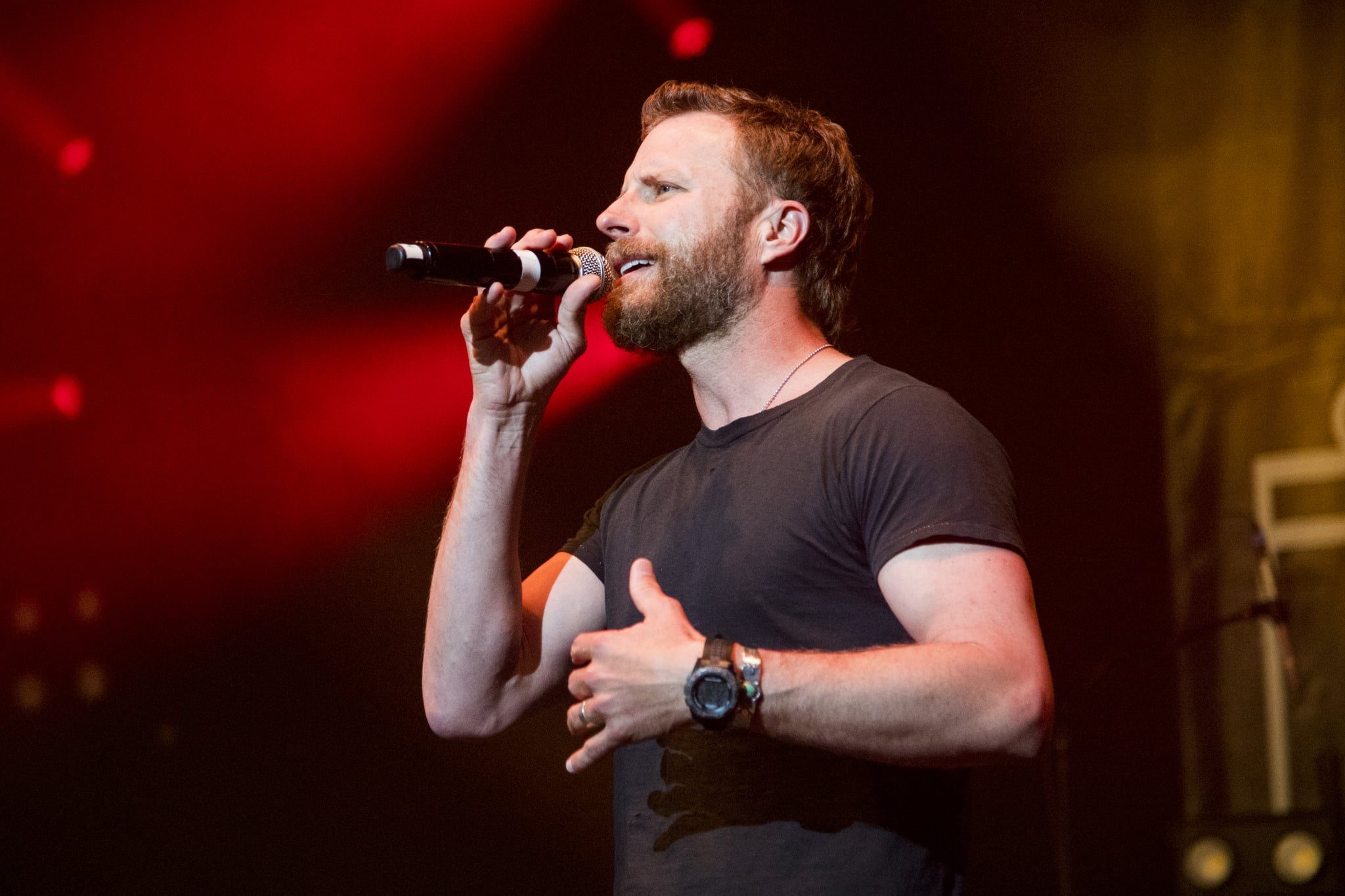 NEW ORLEANS, LA - APRIL 28:  Dierks Bentley performs during Trombone Shorty's Treme Threauxdown at Saenger Theatre on April 28, 2018 in New Orleans, Louisiana.  (Photo by Erika Goldring/Getty Images)